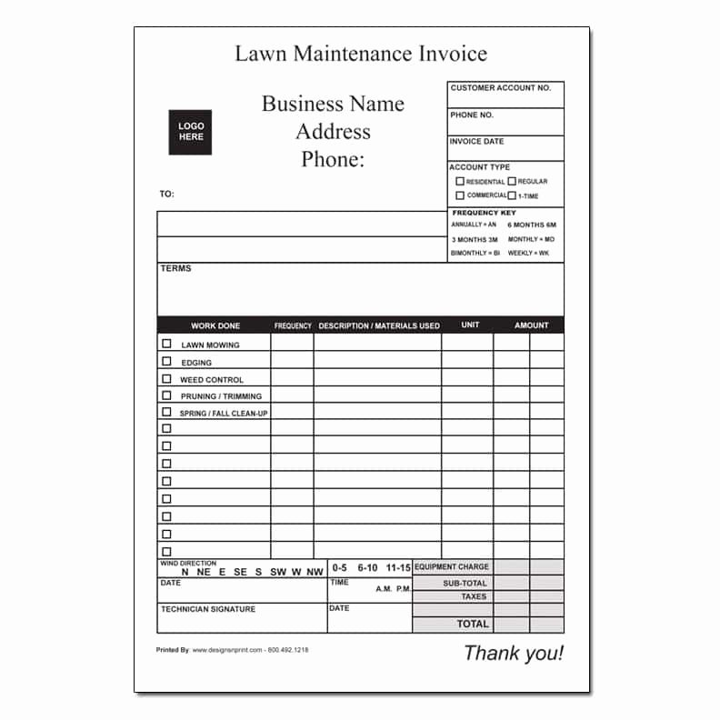 Lawn Care Invoice Template Pdf Best Of Lawn Care Invoice Template La Portalen Document