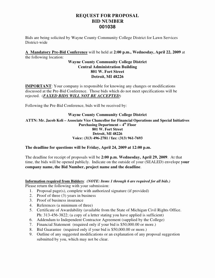 Lawn Care Proposal Template Elegant Free Sample Lawn Care Bids
