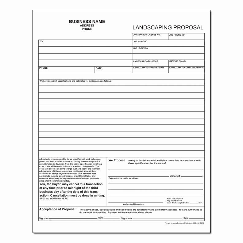 Lawn Care Proposal Template Luxury Lawn Care Estimate Lawn Care Bid form Sheets