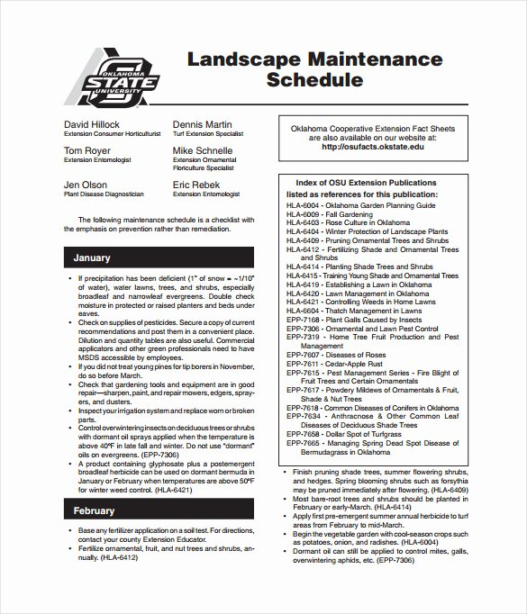 Lawn Maintenance Schedule Template Luxury Maintenance Schedule Templates 35 Free Word Excel Pdf