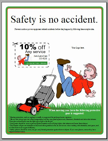 Lawn Mowing Flyer Template Awesome Free Lawn Care Flyer Templates Gopherhaul Landscaping