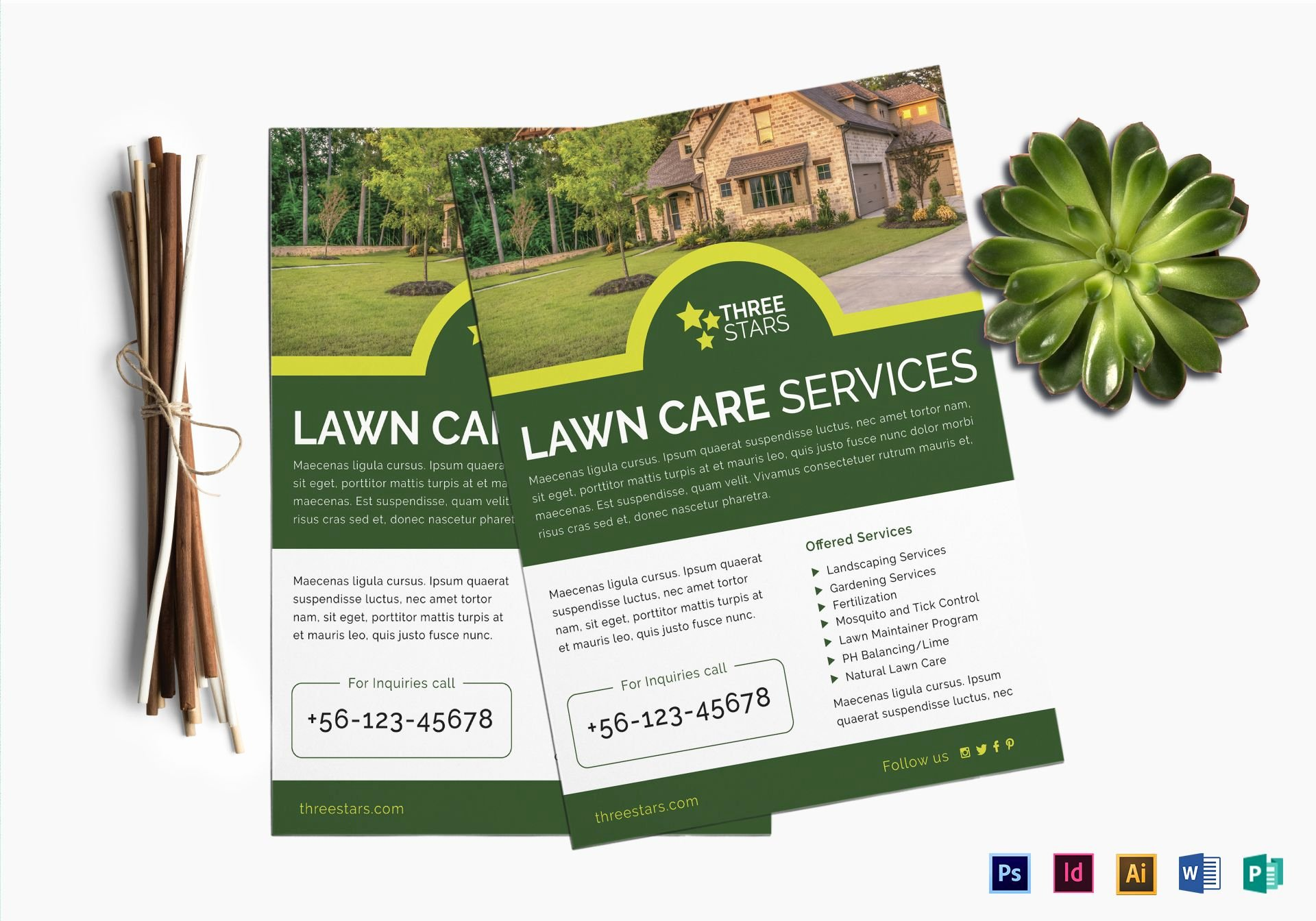 Lawn Mowing Flyer Template Awesome Lawn Care Flyer Design Template In Psd Word Publisher