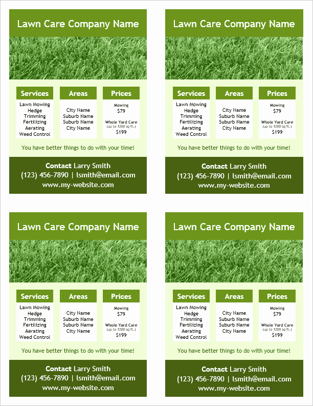 Lawn Mowing Flyer Template Beautiful Lawn Care Flyer Template for Word