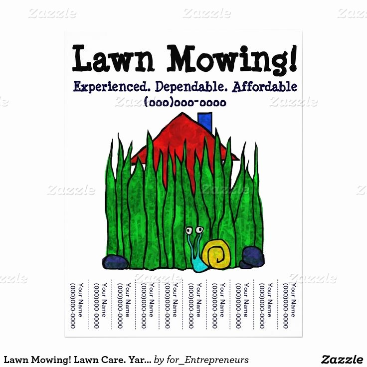 Lawn Mowing Flyer Template Best Of 1000 Images About Lawn Care Flyers On Pinterest