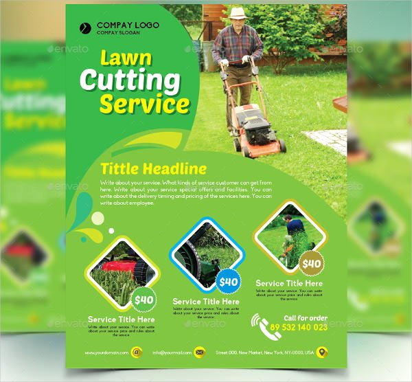 Lawn Mowing Flyer Template Best Of 7 Lawn Mowing Flyer Designs & Templates Psd Vector Eps
