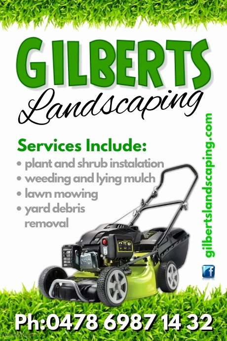 Lawn Mowing Flyer Template Elegant Landscaping Poster Template