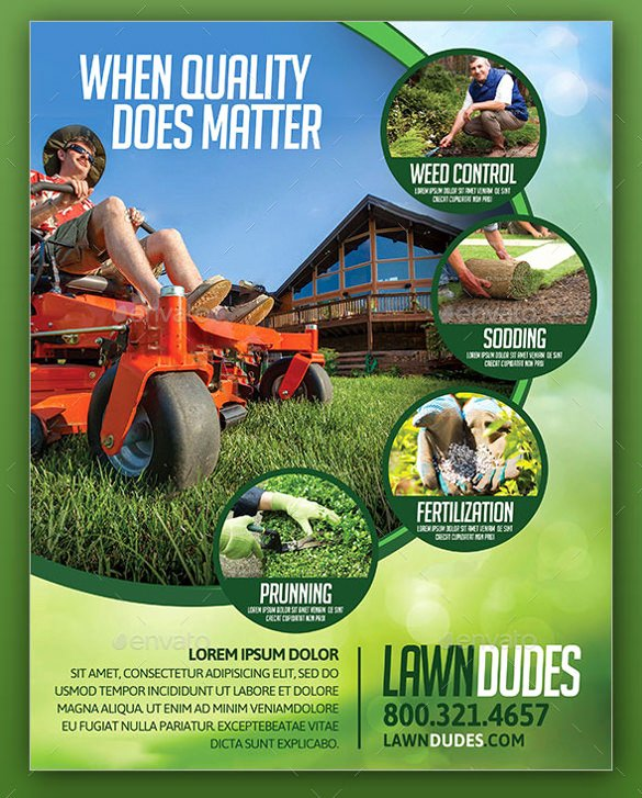 Lawn Mowing Flyer Template Fresh 29 Lawn Care Flyers Psd Ai Vector Eps