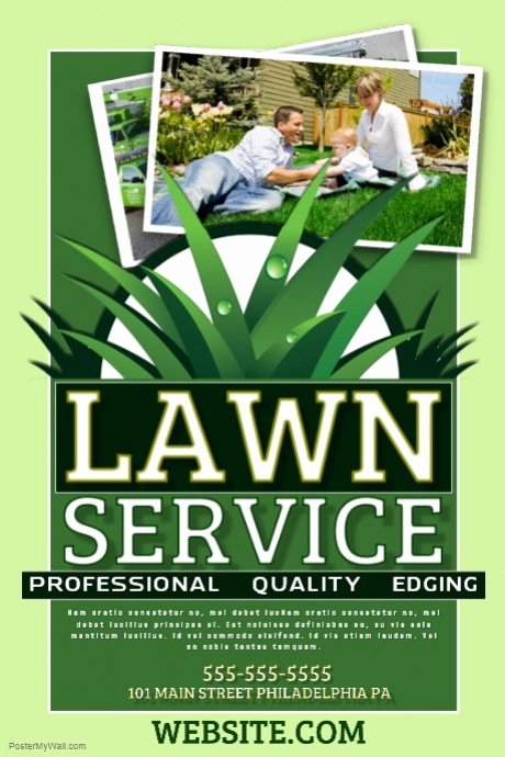 Lawn Mowing Flyer Template Fresh Lawn Service Template
