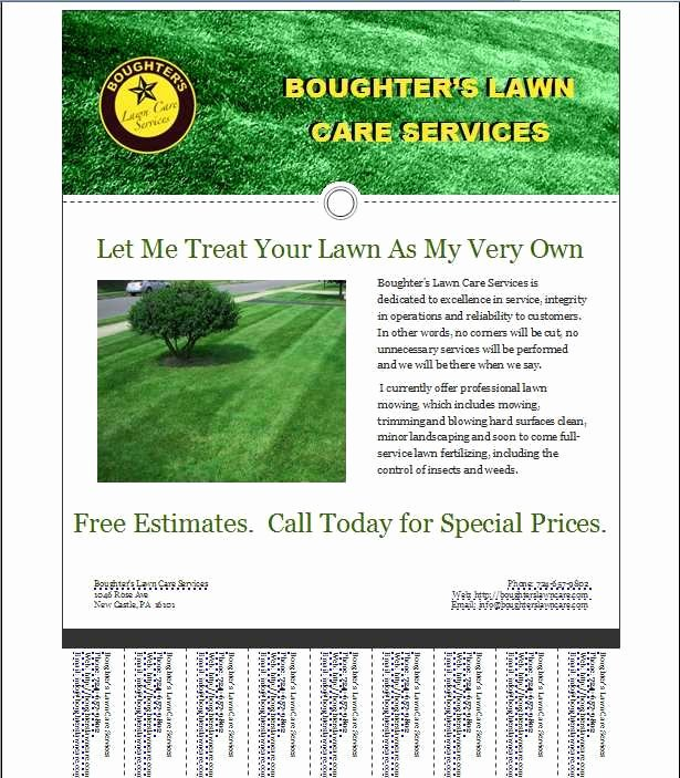 Lawn Mowing Flyer Template Inspirational 16 Best Lawn Care Flyers Images On Pinterest
