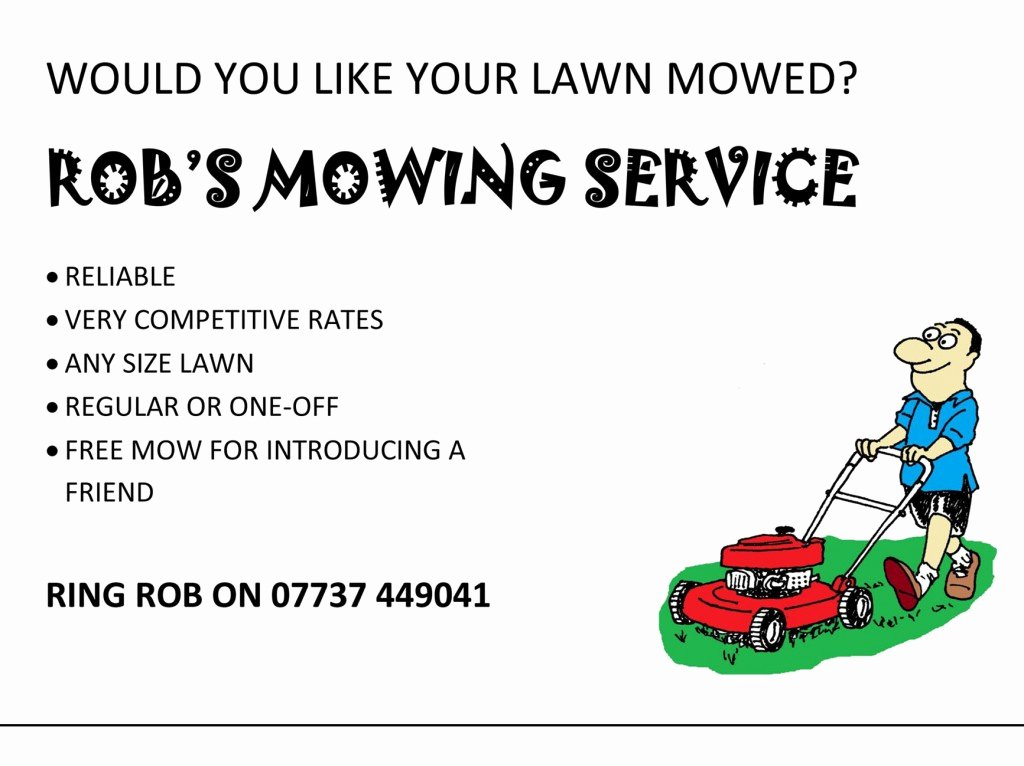 Lawn Mowing Flyer Template Lovely Lawn Care Flyer Template