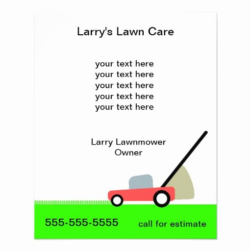 Lawn Mowing Flyer Template Lovely Lawn Care Services Flyer