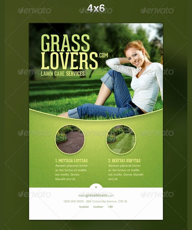 Lawn Mowing Flyer Template New 15 Lawn Care Flyer Templates Printable Psd Ai Vector