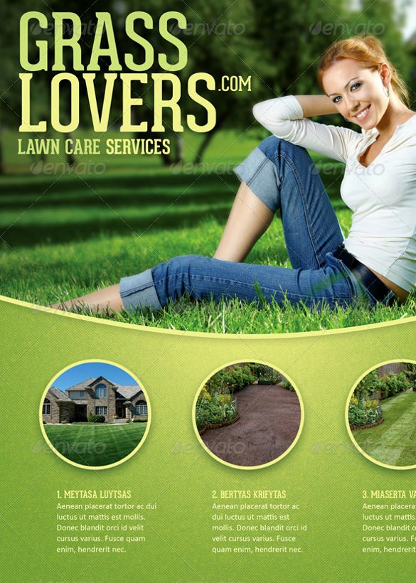 Lawn Mowing Flyer Template New 29 Lawn Care Flyers Psd Ai Vector Eps