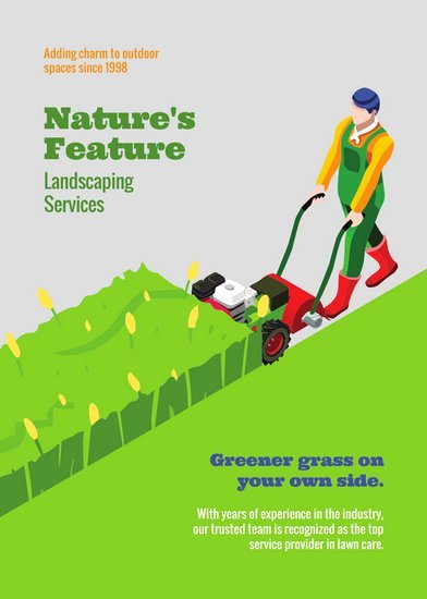 Lawn Mowing Flyer Template New Customize 68 Landscaping Flyer Templates Online Canva