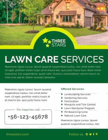 Lawn Mowing Flyer Template New Lawn Care Flyer Templates