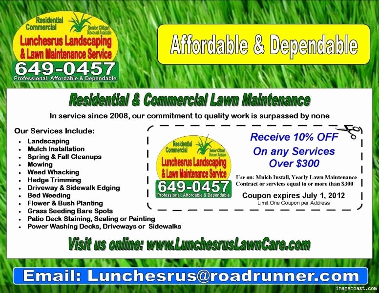 Lawn Mowing Flyer Template New Lawn Care Flyers