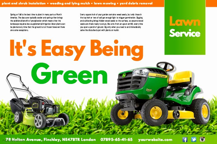 Lawn Mowing Flyer Template Unique Create Lawn Care Business Flyers It S Easy