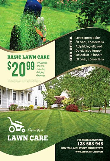 Lawn Mowing Flyer Template Unique Lawn Care – Free Flyer Psd Template – by Elegantflyer