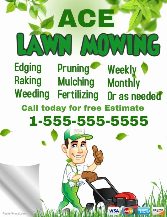 Lawn Mowing Flyer Template Unique Lawn Service Template