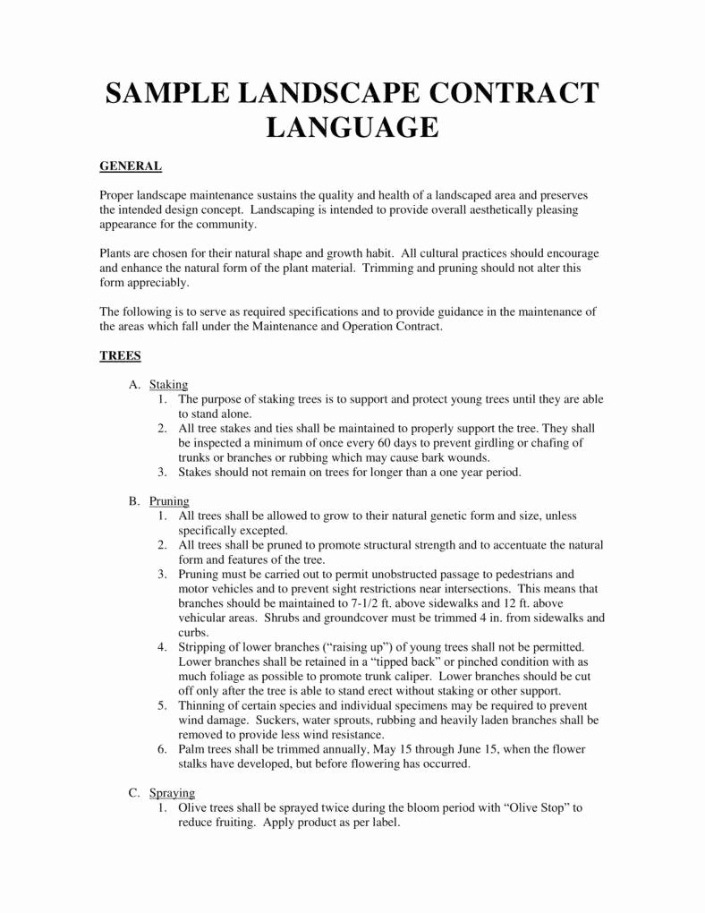 Lawn Service Contract Template Unique 6 Landscaping Services Contract Templates Pdf