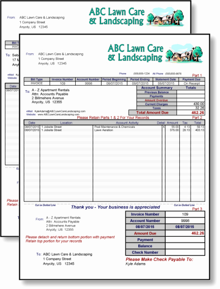 Lawn Service Invoice Template Awesome 10 Best Of Lawn Mower Invoice Lawn Care Service