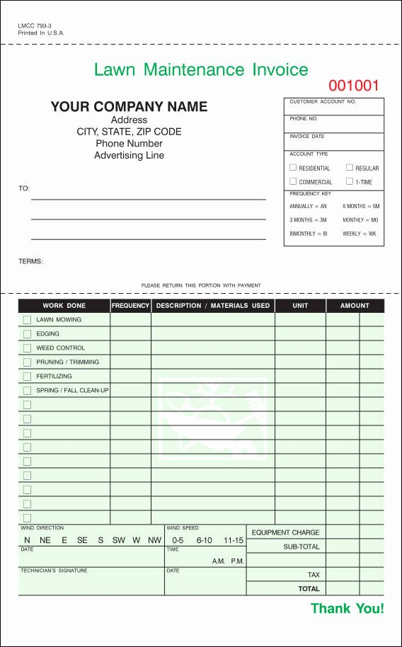 Lawn Service Invoice Template Beautiful 9 Lawn Care Invoice Samples & Templates – Pdf Excel