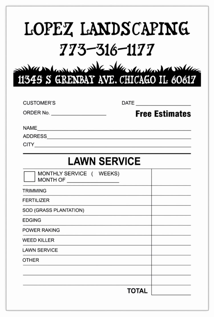 Lawn Service Invoice Template Beautiful Sample Quickbooks Invoice Invoice Template Ideas