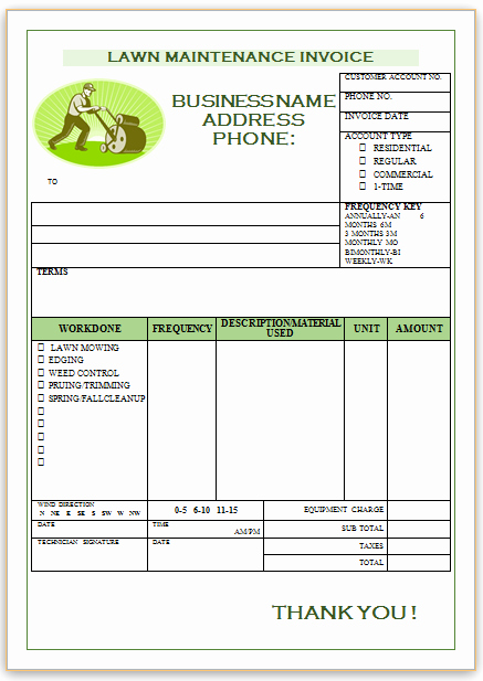 Lawn Service Invoice Template Best Of Landscaping Invoice Template 1