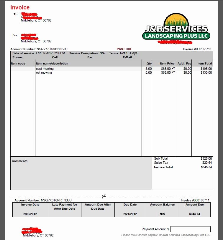 Lawn Service Invoice Template Best Of Lawn Care Estimate Template