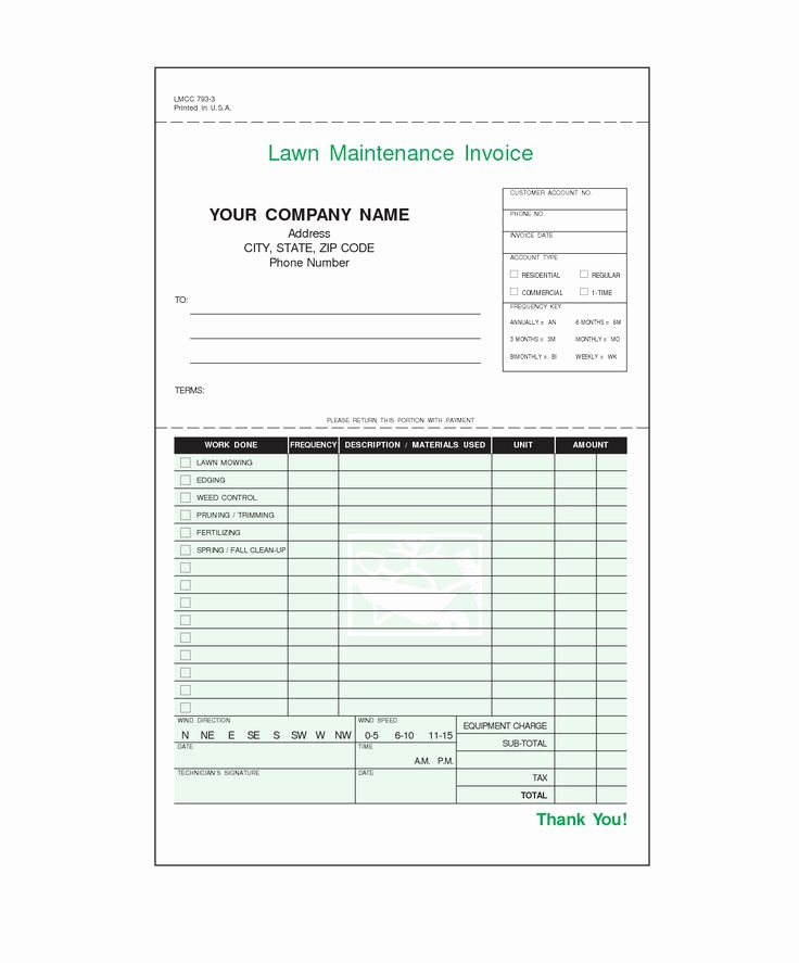 Lawn Service Invoice Template Excel Elegant 9 Best Invoices Images On Pinterest