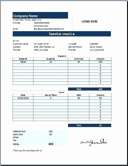 Lawn Service Invoice Template Excel Fresh Service Invoice Template Excel – Buildingcontractor