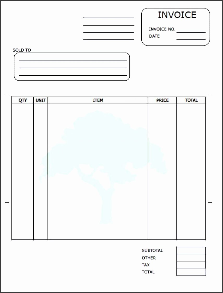 Lawn Service Invoice Template Excel Luxury 7 Service Invoice Template Sampletemplatess