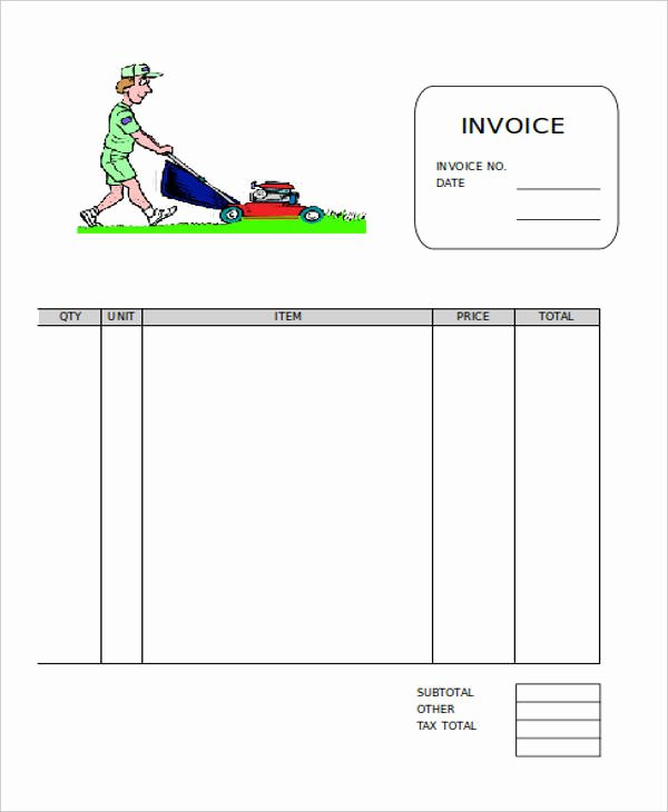 Lawn Service Invoice Template Excel Luxury 9 Lawn Care Invoice Samples & Templates – Pdf Excel