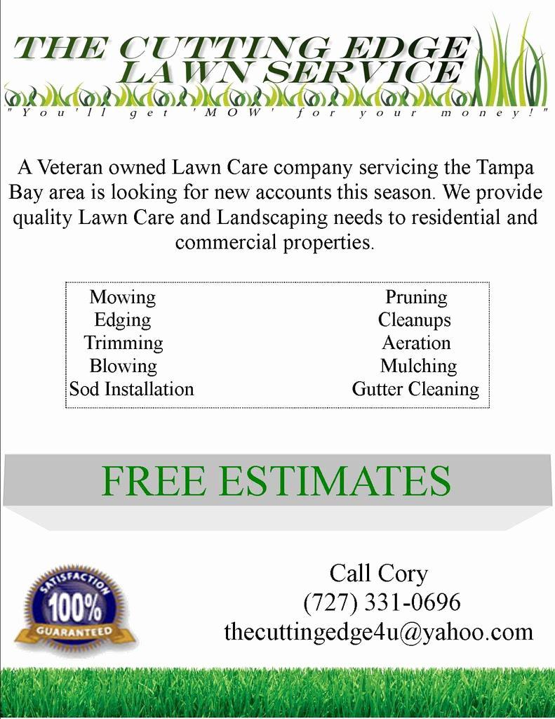 Lawn Service Proposal Template Free Beautiful Lawn Mowing Flyer Template Free Templates Resume