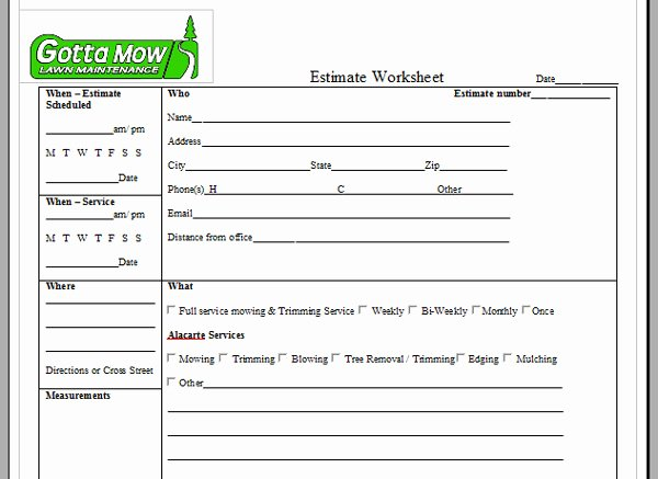 Lawn Service Proposal Template Free Best Of Lawn Maintenance Contract Agreement Free Printable Documents