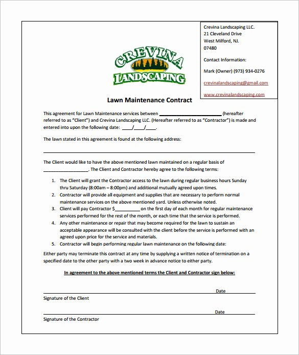 Lawn Service Proposal Template Free Elegant Bid Proposal Template for Lawn Care Templates Resume