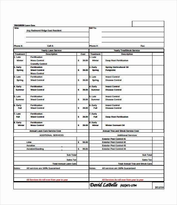 Lawn Service Proposal Template Free Elegant Bid Sheet Template 14 Free Sample Example format