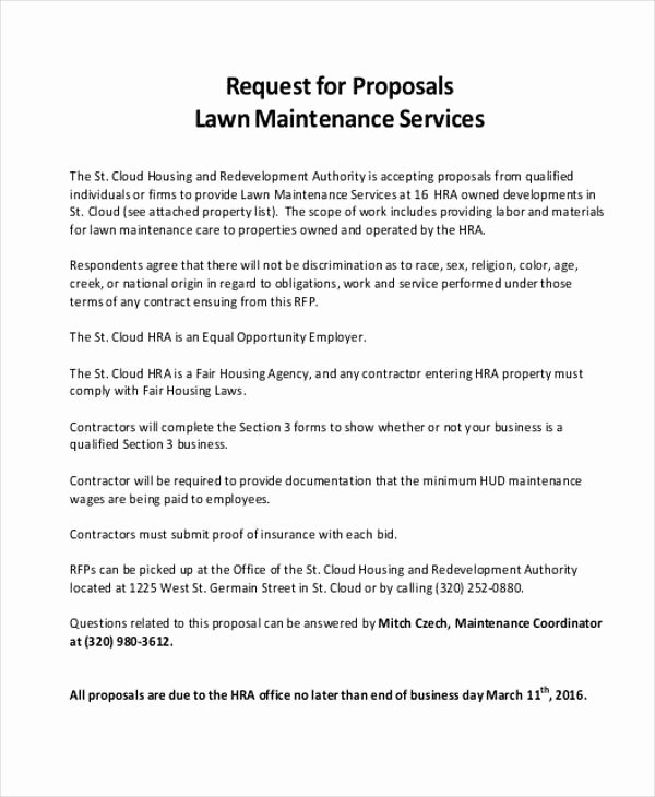 Lawn Service Proposal Template Free New 24 Service Proposal Samples Word Pdf Pages