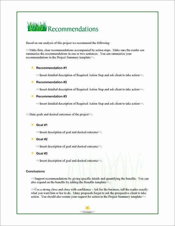 Lawn Service Proposal Template Free Unique Proposal Pack Lawn 1 software Templates Samples