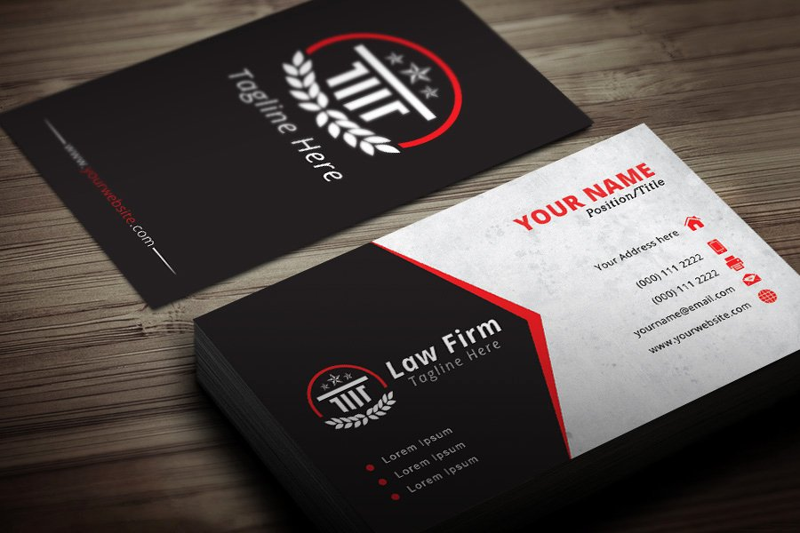 Lawyer Business Card Template Elegant attorney Business Card Template Modern Blank