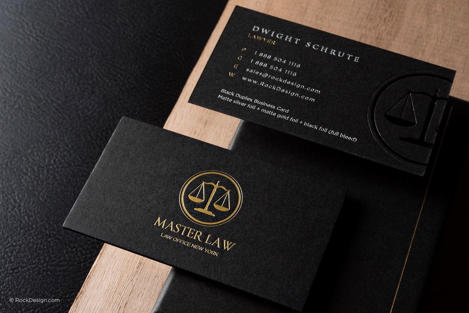 Lawyer Business Card Template Elegant Classic Modern Black Duplex attorney Business Card