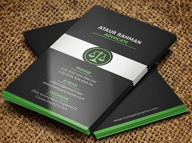 Lawyer Business Card Template Inspirational Free Lawyer Business Card Template Freebiesjedi