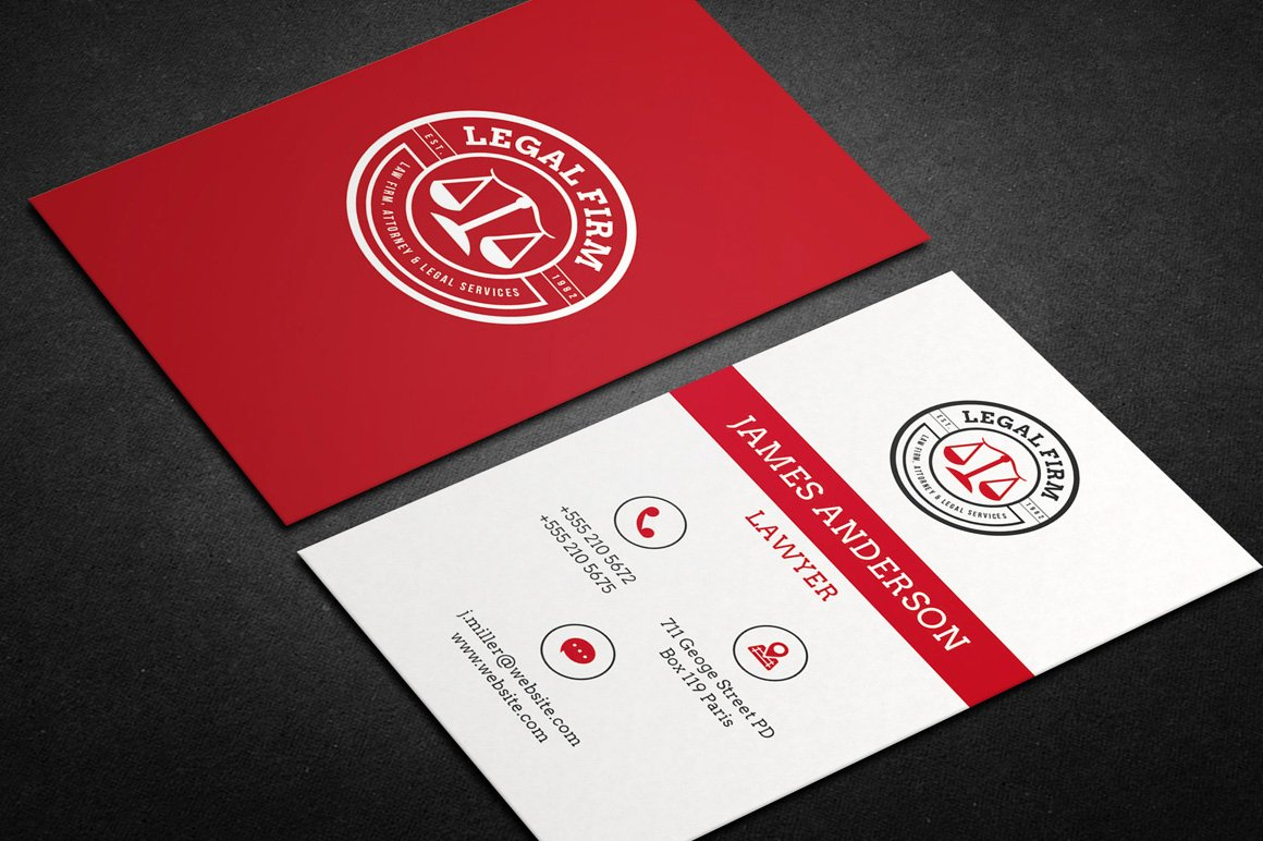 Lawyer Business Card Template Inspirational Lawyer Business Card Vol 01 Business Card Templates On