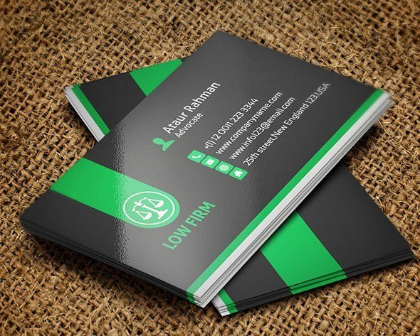 Lawyer Business Card Template Luxury 25 Creative Lawyer Business Card Templates Smashfreakz