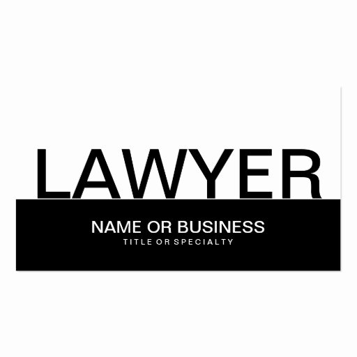 Lawyer Business Card Template New Bold Lawyer Business Card Template