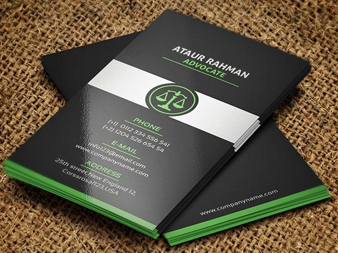 Lawyer Business Card Template Unique 25 Creative Lawyer Business Card Templates