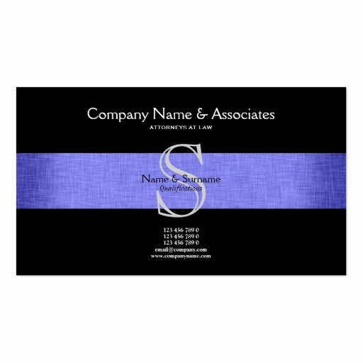 Lawyer Business Card Template Unique attorney Lawyer Double Sided Standard Business Cards Pack