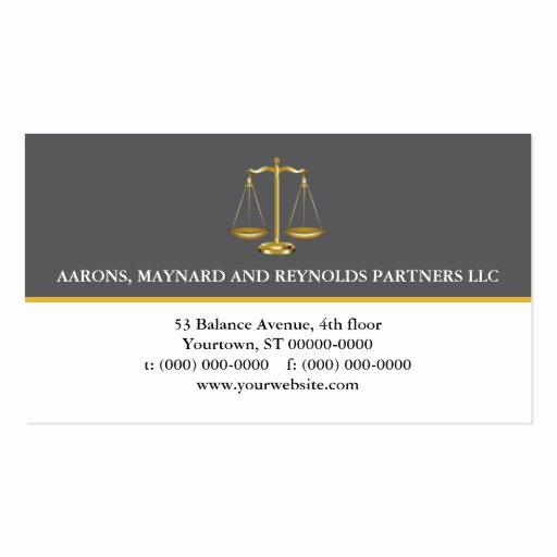 Lawyer Business Card Template Unique Golden Law Scales attorney Double Sided Standard Business