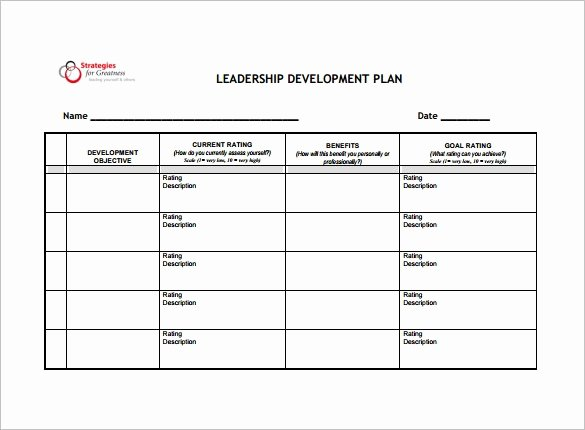 Leadership Development Plan Template Awesome 14 Development Plan Templates Free Sample Example