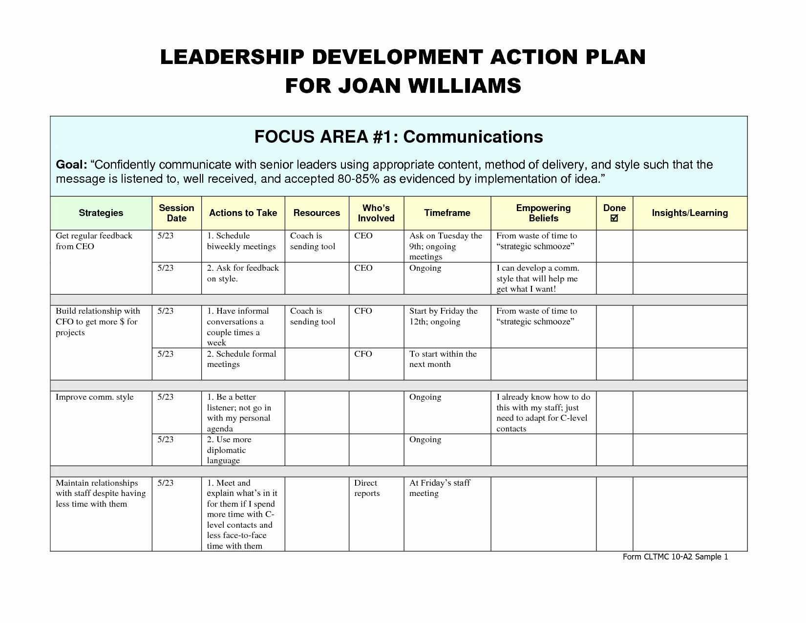 Leadership Development Plan Template Best Of Leadership Development Plan – Emmamcintyrephotography
